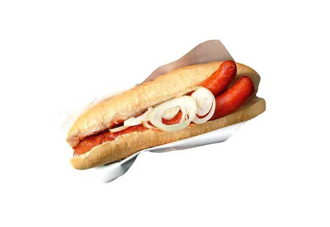 Hot Dog with onion