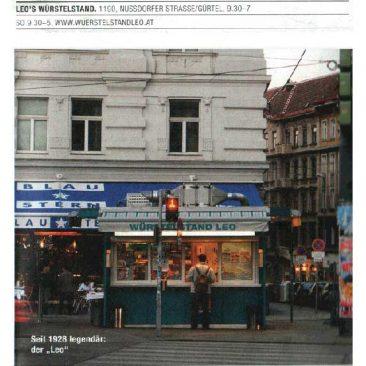 Kunst - Artikel über Würstelstand Leo, Wien