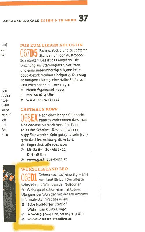 Best Of Vienna Ranking Würstelstand LEO