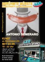 Plakat Kunstparty am Würstelstand LEO