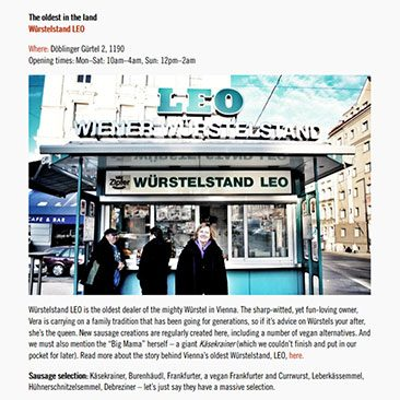 The oldest in the land – Würstelstand Leo