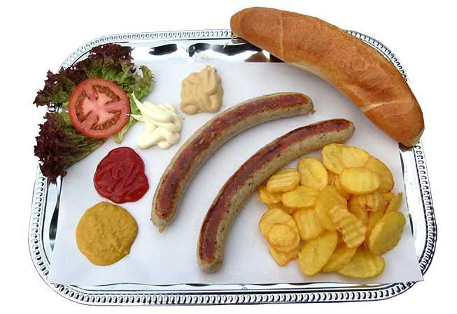 Bratwurst-Teller