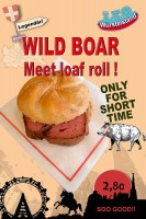 Wild boar-meet loaf rolls at #LEO, february 2016