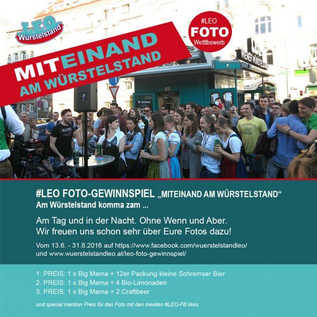 Leo Fotogewinnspiel Miteinand am Würstelstand