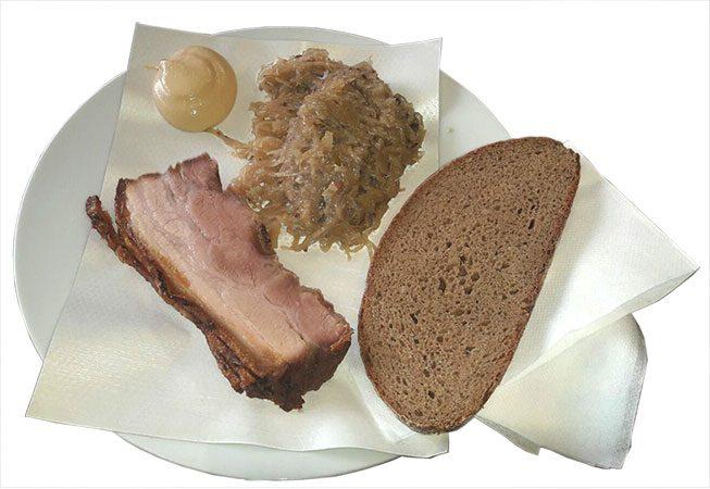 Kümmelbraten mit Sauerkraut, #LEO