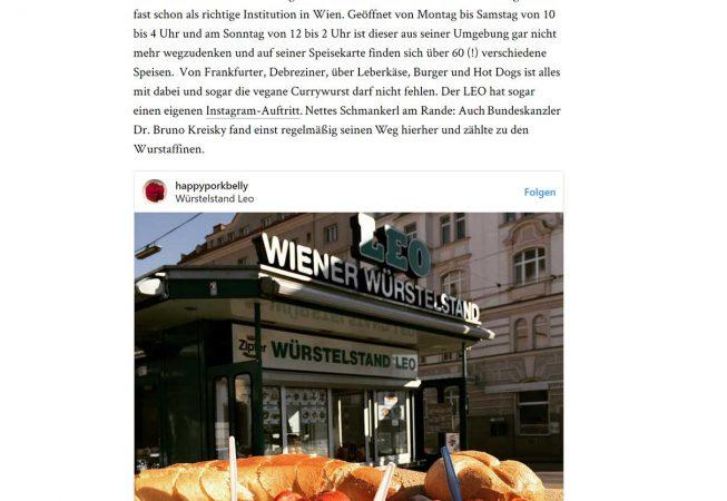 1000 things Artikel Wiens beste Würstelstände