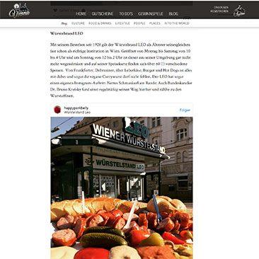 1000things to do in Vienna Artikel über Wiens beste Würstelstände