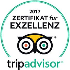 EXZELLENZ Zertifikat von Tripadvisor für LEO