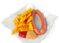 Frankfurter mit Gitterkartoffeln bei LEO